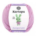 Пряжа для вязания Kartopu Amigurumi (Картопу Амигуруми) Цвет 705 светло сиреневый