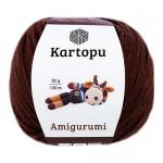 Пряжа для вязания Kartopu Amigurumi Цвет 890 коричневый