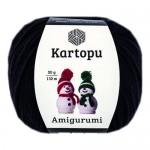 Пряжа для вязания Kartopu Amigurumi (Картопу Амигуруми) Цвет 940 черный