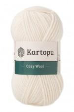 Пряжа для вязания Kartopu Cozy Wool (Картопу Кози Вул) Цвет 025 молочный