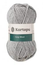 Пряжа для вязания Kartopu Cozy Wool (Картопу Кози Вул) Цвет 1001 серый