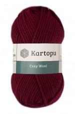 Пряжа для вязания Kartopu Cozy Wool (Картопу Кози Вул) Цвет 110 вишневый