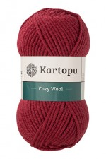 Пряжа для вязания Kartopu Cozy Wool (Картопу Кози Вул) Цвет 1105 брусника