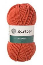 Пряжа для вязания Kartopu Cozy Wool (Картопу Кози Вул) Цвет 1210 терракот