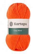 Пряжа для вязания Kartopu Cozy Wool (Картопу Кози Вул) Цвет 1211 оранжевый
