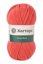 Пряжа для вязания Kartopu Cozy Wool (Картопу Кози Вул) Цвет 1212 коралловый