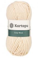 Пряжа для вязания Kartopu Cozy Wool (Картопу Кози Вул) Цвет 1220 нежно розовый
