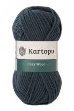Пряжа для вязания Kartopu Cozy Wool (Картопу Кози Вул) Цвет 1480 темно зеленый