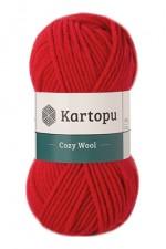 Пряжа для вязания Kartopu Cozy Wool (Картопу Кози Вул) Цвет 150 красный