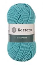 Пряжа для вязания Kartopu Cozy Wool (Картопу Кози Вул) Цвет 1512 бирюзовый