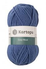 Пряжа для вязания Kartopu Cozy Wool (Картопу Кози Вул) Цвет 1533 синий