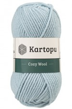Пряжа для вязания Kartopu Cozy Wool (Картопу Кози Вул) Цвет 1539 серо голубой
