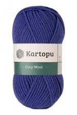 Пряжа для вязания Kartopu Cozy Wool (Картопу Кози Вул) Цвет 1624 василек