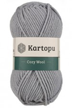Пряжа для вязания Kartopu Cozy Wool (Картопу Кози Вул) Цвет 1644 серый