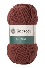 Пряжа для вязания Kartopu Cozy Wool (Картопу Кози Вул) Цвет 1892 коричневый