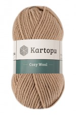 Пряжа для вязания Kartopu Cozy Wool (Картопу Кози Вул) Цвет 885 бежевый