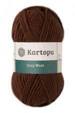 Пряжа для вязания Kartopu Cozy Wool (Картопу Кози Вул) Цвет 890 шоколадный