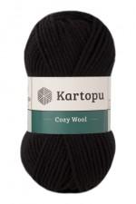 Пряжа для вязания Kartopu Cozy Wool (Картопу Кози Вул) Цвет 940 черный