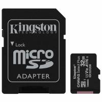 KINGSTON SDCS2/32GB Карта памяти microSDHC 32 GB KINGSTON Canvas Select Plus, UHS-I U1, 100 Мб/с (class 10), адаптер, SDCS2/32GB