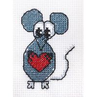 """Klart 7-115 """"Klart"""" набор для вышивания 7-115 """"Мышонок с сердечком"""""""