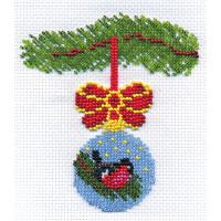 """Klart 8-038 """"Klart"""" набор для вышивания 8-038 """"Новогодний шарик со снегирем"""""""