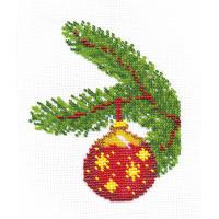 """Klart 8-039 """"Klart"""" набор для вышивания 8-039 """"Новогодний шарик со звёздами"""""""