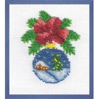 """Klart 8-047 """"Klart"""" набор для вышивания 8-047 """"Новогодний шарик с домиком"""""""