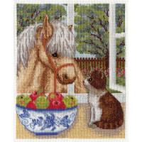 """Klart 8-096 """"Klart"""" набор для вышивания 8-096 """"Пони и котёнок"""""""