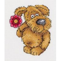 Кларт 8-224 Пёсик с цветочком