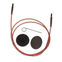 KnitPro 31296 Набор: коричневый тросик94см (120см), заглушки и кабельный ключик KnitPro, 31296