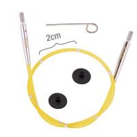 KnitPro 42171 Набор Smart Stix: желтый тросик 20 см (40 см), заглушки 2 шт, кабельный ключик