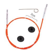 KnitPro 42172 Набор Smart Stix: красный тросик 28 см (50 см), заглушки 2 шт, кабельный ключик
