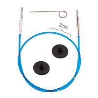 KnitPro 42173 Набор Smart Stix: синий тросик 35 см (60 см), заглушки 2 шт, кабельный ключик
