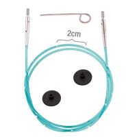 KnitPro 42174 Набор Smart Stix: зеленый тросик 56 см (80 см), заглушки 2 шт, кабельный ключик