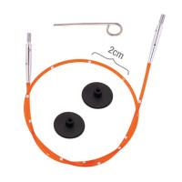KnitPro 42176 Набор Smart Stix: оранжевый тросик 94 см (120 см), заглушки 2 шт, кабельный ключик