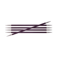KnitPro 47043 Спицы чулочные Zing 20см 6.0мм, 5 шт