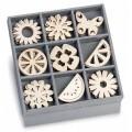 """Knorr Prandel 18521029 Декоративные элементы из дерева в коробочке """"Летний сад"""""""