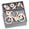 """Knorr Prandel 2118521030 Декоративные элементы из дерева в коробочке """"Летняя прогулка"""""""