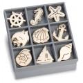 """Knorr Prandel 2118521031 Декоративные элементы из дерева в коробочке """"Океанический рай"""""""