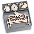 """Knorr Prandel 2118521034 Декоративные элементы из дерева в коробочке """"Садовая скамейка"""""""