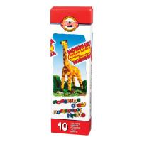 "KOH-I-NOOR 013150400000RU Пластилин классический KOH-I-NOOR ""Жираф"", 10 цветов, 200 г, картонная упаковка, 013150400000RU"