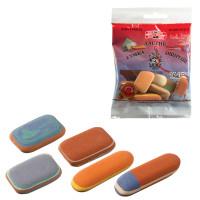 KOH-I-NOOR 6510005010PSRU Набор ластиков KOH-I-NOOR 50 г, цвет и форма ассорти, натуральный каучук, 6510005010PSRU
