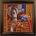 Конёк 1208 Рисунок на ткани «Конёк» 1208 Угощение, 25х25 см