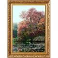 Конёк НИК 1213 Дерево на воде (К.Моне)