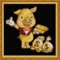 Конёк НИК 1240 Золотая свинка