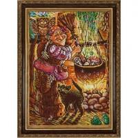 Конёк 1364_НИК Рисунок на ткани «Конёк» 1364 Кулинар Баба Яга  29х39 см