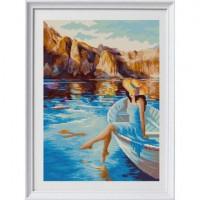 Конёк 1372 Рисунок на ткани «Конёк» 1372 Горное озеро  29х39 см