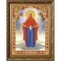 Конёк НИК 7107 Богородица Покрова. Схема для вышивания бисером