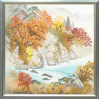 Конёк НИК 8402 Осень в горах. Схема для вышивания бисером