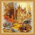 Конёк НИК 8405 Старый замок. Рисунок на ткани